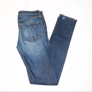 Rag & Bone 'Kensington' Dark Wash Skinny Jeans 24